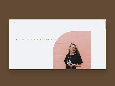 Webflow build | Fashion Brand Website by tubik slider layout animation typography webflow tubik buildbites