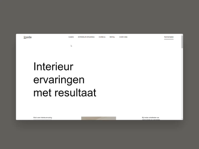 Webflow Build | Inside homepage scroll by Gil background fadein fadeout scroll layout minimal animation buildbites