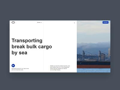 Webflow Build | Cargo Logistics Website by Hrvoje Grubisic video layout menu animation buildbites webflow