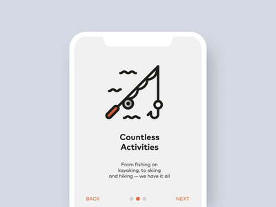 Camping App Onboarding ui android ios app animation illustration illustrator ae icons animated onboarding app camping