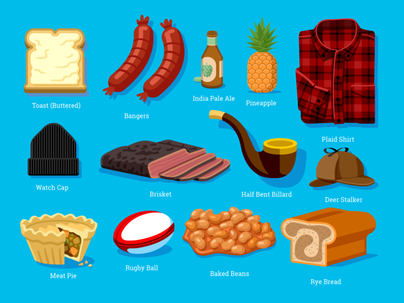 WONGDOODY - Big ol' Batch of Spots #3 emoji stickers spots food illustration vector icons food