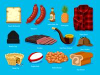 WONGDOODY - Big ol' Batch of Spots #3 emoji stickers spots food illustration vector icons food