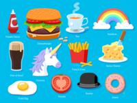 WONGDOODY - Big ol' Batch of Spots #2 emoji spots icons food vector