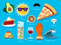 WONGDOODY - Big ol' Batch of Spots #1 food emoji spots icon vector