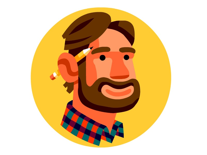 Your Friendly Neighborhood Illustrator portrait avatar logo illustration vector