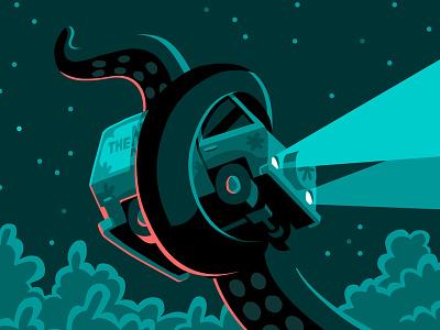 Cthulhu vs. Mystery Inc. vectober illustration vector