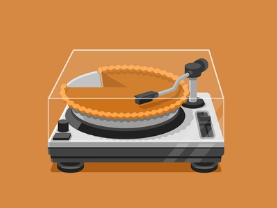 """Thanksgiving Playlist"" for Google Play Music autumn music google design illustration vector"