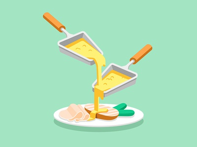 Google Play Music - Raclette Party music google design illustration vector