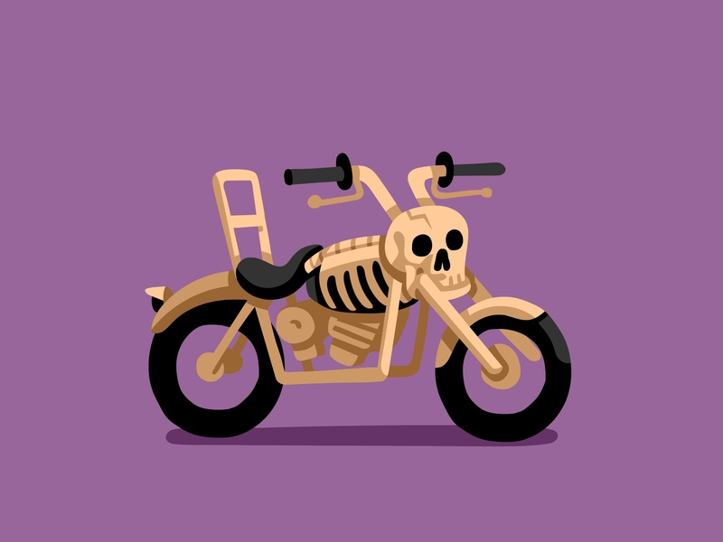Bone Daddy Bike Mod motorcycle vectorart illustrator vector art