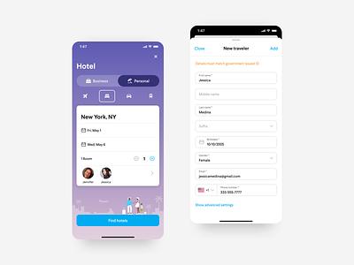 Family Travel On the Go mobile design ux ui travel app travel