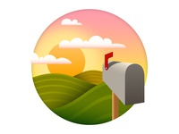 Mailbox Farm Illustration