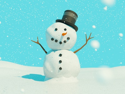Snowman Dribbble