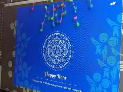 Happy Tihar 2016 festival celebration lights greetings diwali deepawali