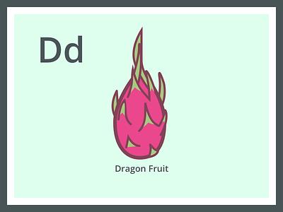 Dragon Fruit pitaya d alphabet fruit
