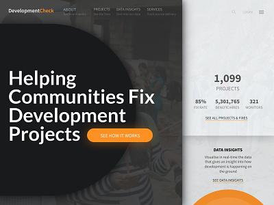 Split Screen UI monitoring development check split screen landing page