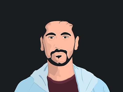 Portrait adobe illustrator vector portrait illustration