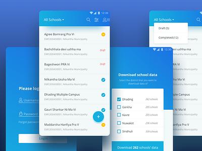 Survey app login list material android kobo toolbox survey