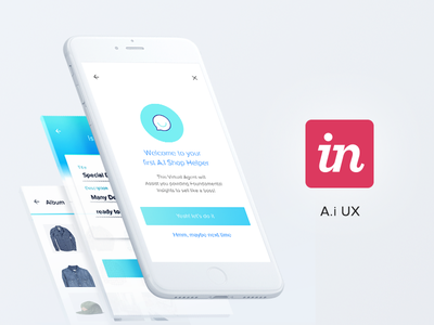 AI Helper UX mobile first ui ux case study invision shop sales ecommerce ai