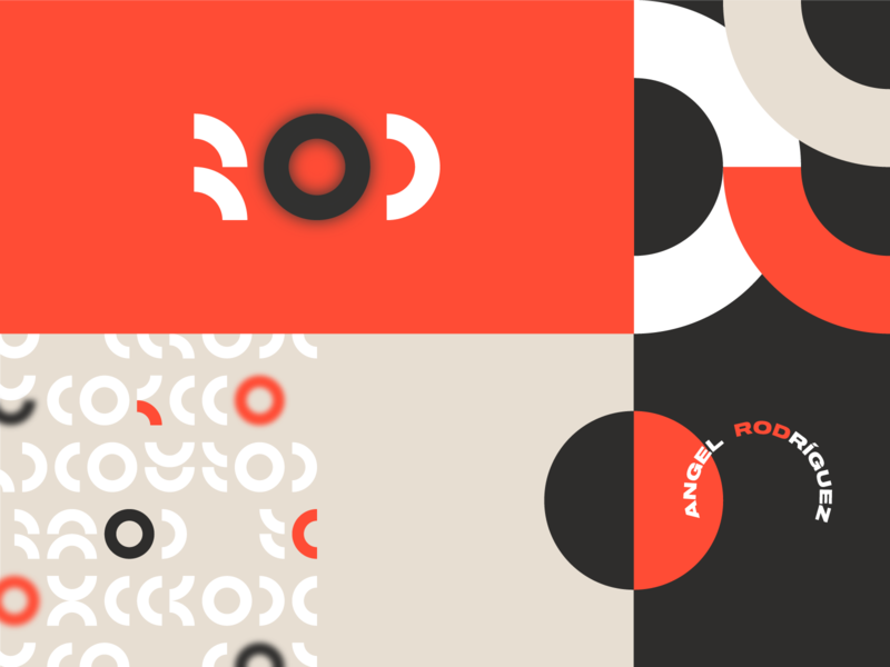 Personal Brand icon symbol monogram monterrey méxico design red figures circle concept branding logo