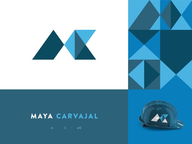 Maya Carvajal mty méxico monterrey company construction idenity pattern geometric blue design studio architecture symbol monogram branding brand logo