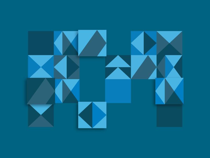 MC Pattern mty monterrey mexico company identity branding brand lines triangle blue geometric pattern studio architecture logo