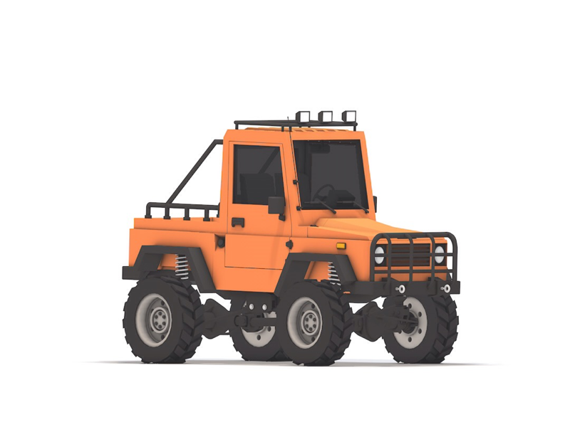 4x4 Offroad cinema 4d vehicle design truck vehicle lowpoly debut 3d