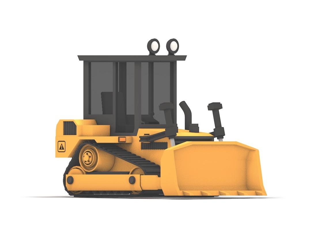 Bulldozer design building truck vehicle 3d art c4d debut cinema 4d lowpoly 3d