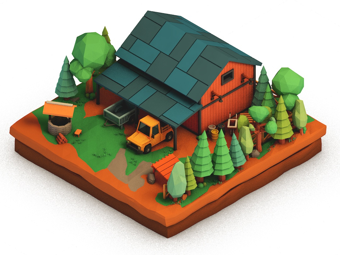 Farm Life vol.2 farm design illustration isometric c4d cinema 4d lowpoly 3d