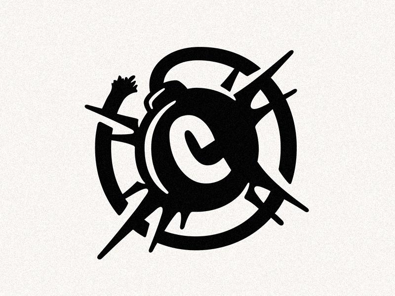 Continental Banger Bomber bomb logo illustration design lettering typography type