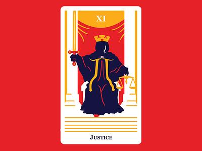 11 Justice justice tarot card cards tarot cards tarot character vector design graphic design art flat 2d illustration