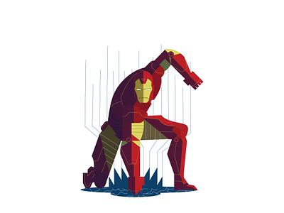 Iron Man disney marvel comics marvel avengersendgame avengers iron ironman character vector graphic design art 2d flat illustration