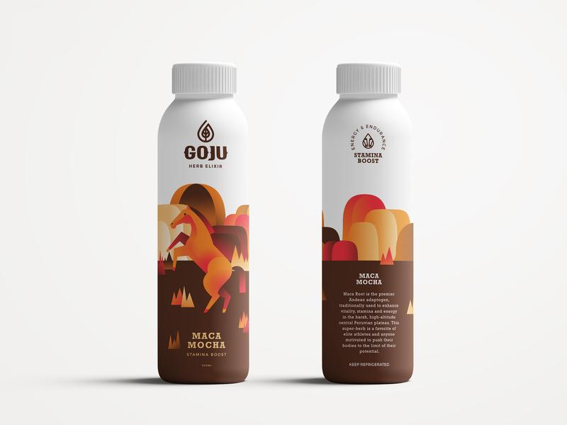 Horse - Goju Spirit Animal concept character vector design graphic design art 2d flat illustration juice packaging animal character animal art animal illustration animal horse