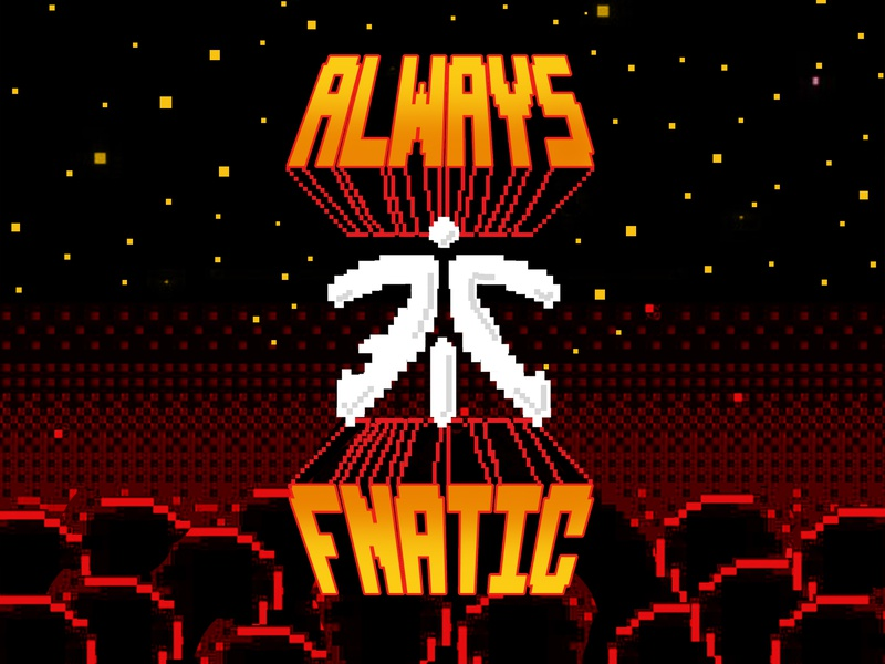 Fnatic Mode Wallpaper concept design graphic design art 2d flat illustration 8 bit 8-bit 80s gamer esports gaming 8bit