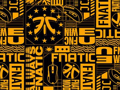 Fnatic Mode Wallpaper esportslogo sports gamer gaming esports vector design graphic design art 2d flat illustration typography
