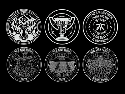 FnaticXV Coin Exploration gaming esports coin design art flat 2d graphic design illustration
