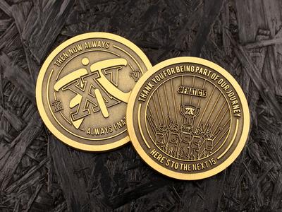 Fnatic XV Coin coin gamer gaming esports vector design 2d graphic design illustration