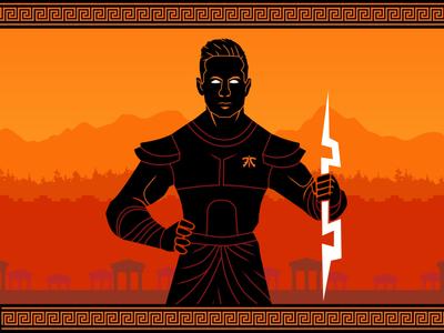 Broxah God esports design esports gamer gaming character vector design art flat 2d graphic design illustration