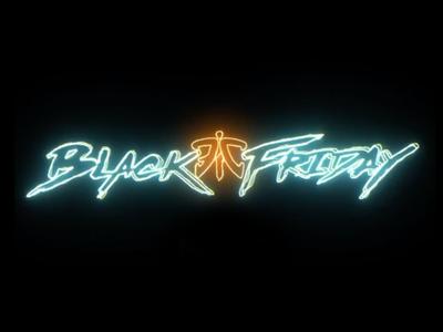 Black Friday Typography black friday typography gaming esports vector design graphic design illustration
