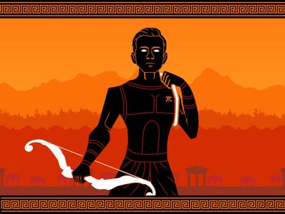Dan God gaming esports character concept vector design art flat 2d graphic design illustration