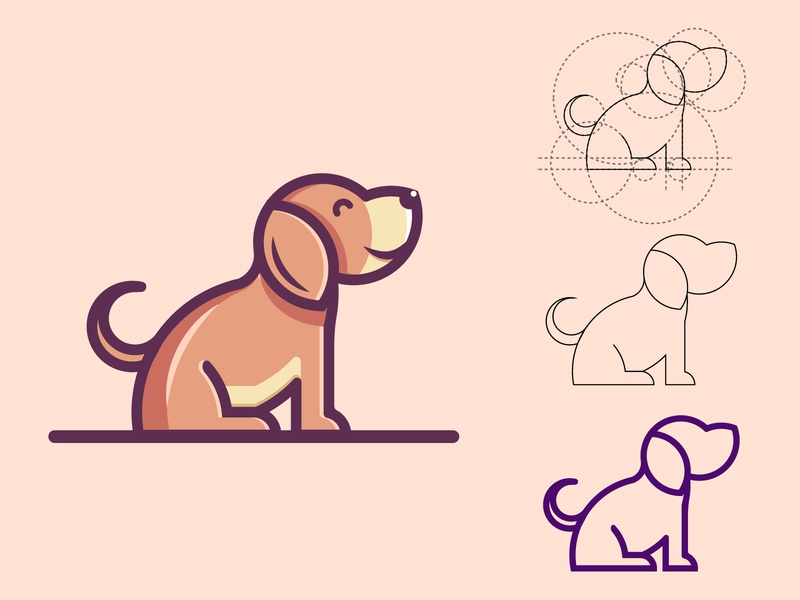 Dog cute logo animal logo design animal logos animal illustration animal logo animal dog illustration dog logo dog vector dribbble best shot character design 2d ui illustrator dribbble mongolia illustration