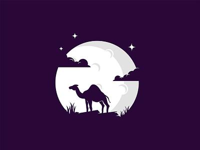 Camel night mongolia illustrator flat illustration dribbble best shot dribbble character animals t animal illustration l animal ar anima 2d