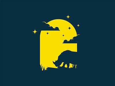 Rhino night mongolia illustrator flat illustration dribbble best shot dribbble character animals t animal illustration l animal ar anima 2d