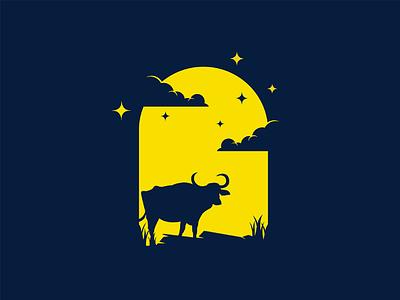 Buffalo night mongolia illustrator flat illustration dribbble best shot dribbble character animals t animal illustration l animal ar anima 2d