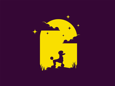 Dog night mongolia illustrator flat illustration dribbble best shot dribbble character animals t animal illustration l animal ar anima 2d