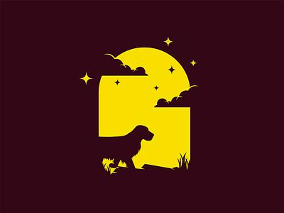 Dog night mongolia illustrator flat illustration dribbble best shot dribbble character animals t animal illustration l animal ar anima 2d