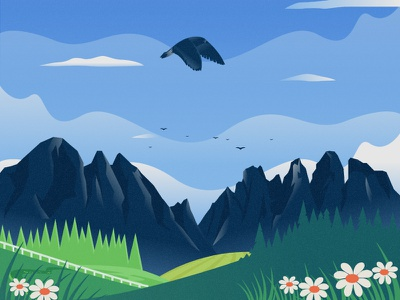 Eagle flat 2d vector animal nature illustration landscape illustration nature landscape tree bird dribbble best shot dribbble
