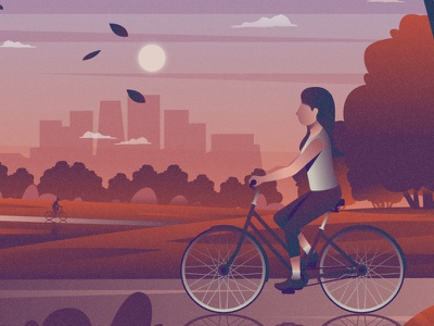 Bicycles flat 2d vector lifestyle life illustration landscape illustration hobby landscape world lifestyle illustration dribbble best shot dribbble