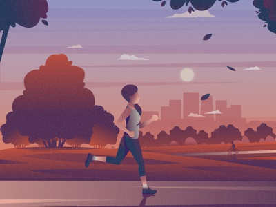 Run flat 2d vector lifestyle life illustration landscape illustration hobby landscape world lifestyle illustration dribbble best shot dribbble