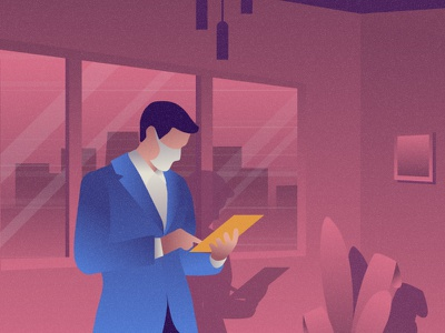 Businessman flat 2d vector lifestyle life illustration landscape illustration hobby landscape world lifestyle illustration dribbble best shot dribbble