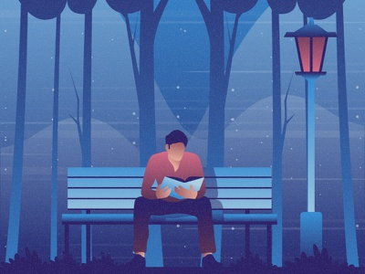 Reading a book flat 2d vector lifestyle life illustration landscape illustration hobby landscape world lifestyle illustration dribbble best shot dribbble